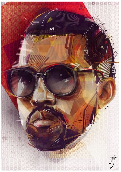 Illustration, Graphic art, kanye west