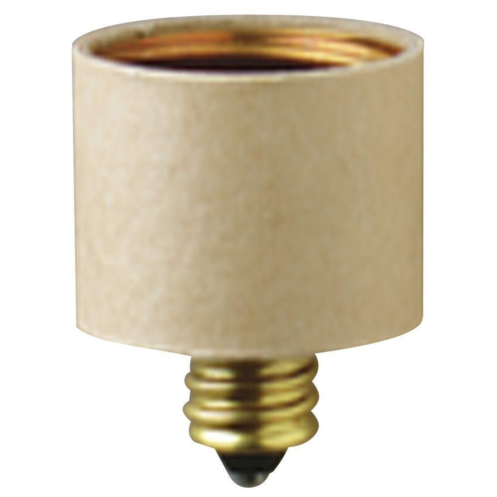 Westinghouse Candelabra To Medium Base Socket Adapter 7036100 Light Bulb Adapter Light Accessories Bulb
