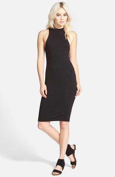 Leith Mock Neck Midi Dress   Mock neck and Midi dresses