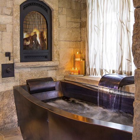 Copper Soaking Tub by Diamond Spas
