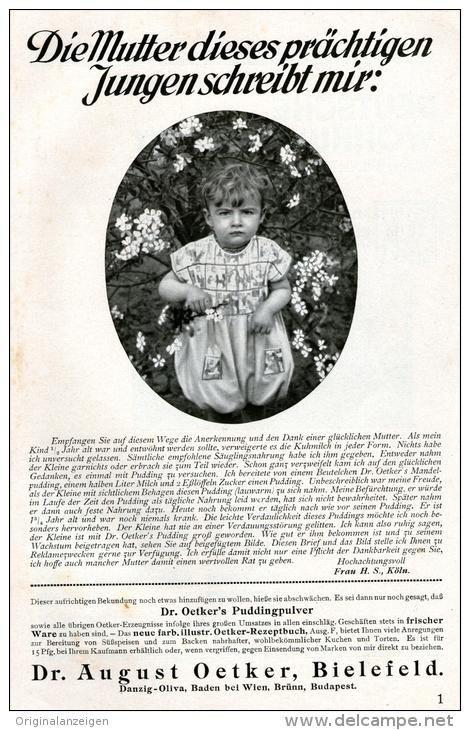 Original-Werbung/ Anzeige 1928 - DR. OETKER  / RÜCKSEITE DEUTSCHE WOHNUNGSKUNST WK MÖBEL - ca. 140 x  220 mm