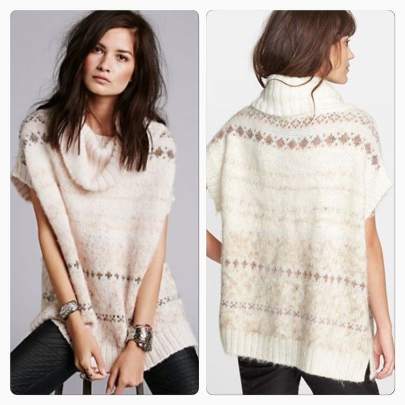 Free people Snow Bunny Fair Isle Sweater Excellent condition. A ...