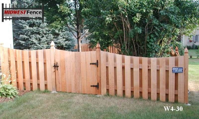 4 Foot High Wood Private Fences Minneapolis St Paul Midwest Fence For Our Side Yard Wood Fence Fence Design Cedar Fence