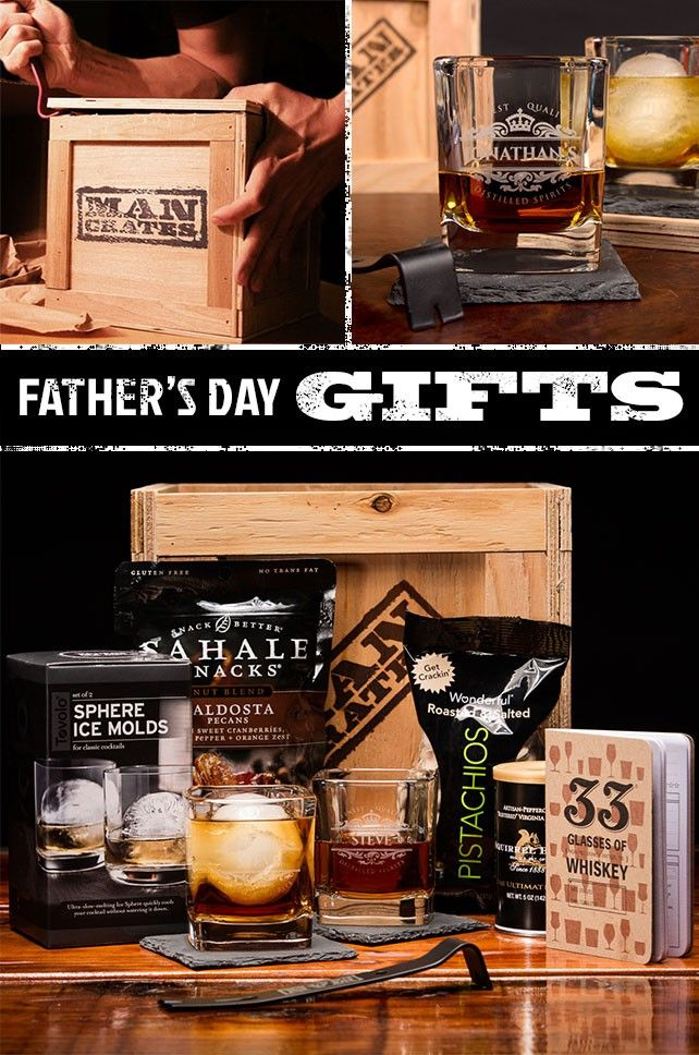 I'm positive Dad is going to love this Personalized Whiskey crate - especially for Father's Day | ManCrates