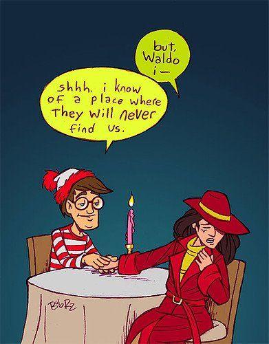 Carmen & Waldo sitting in a tree... I bet google maps can find them