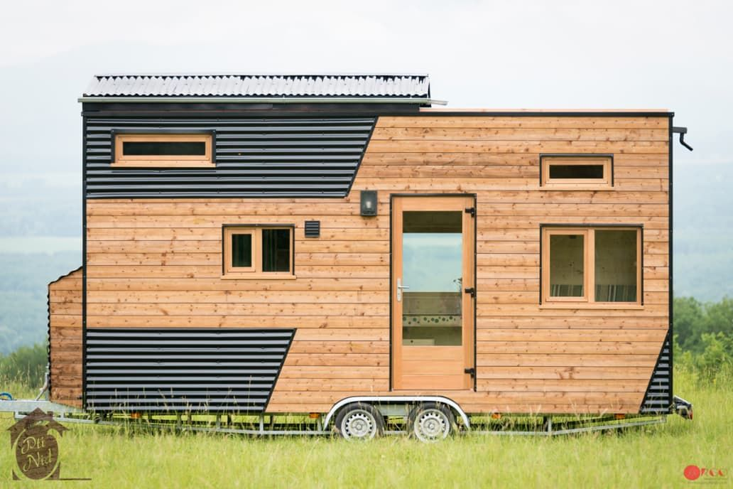 Stargazers Rejoice This Tiny House S Roof Slides Completely Open Tiny House On Wheels Tiny House Big Living Tiny House Nation