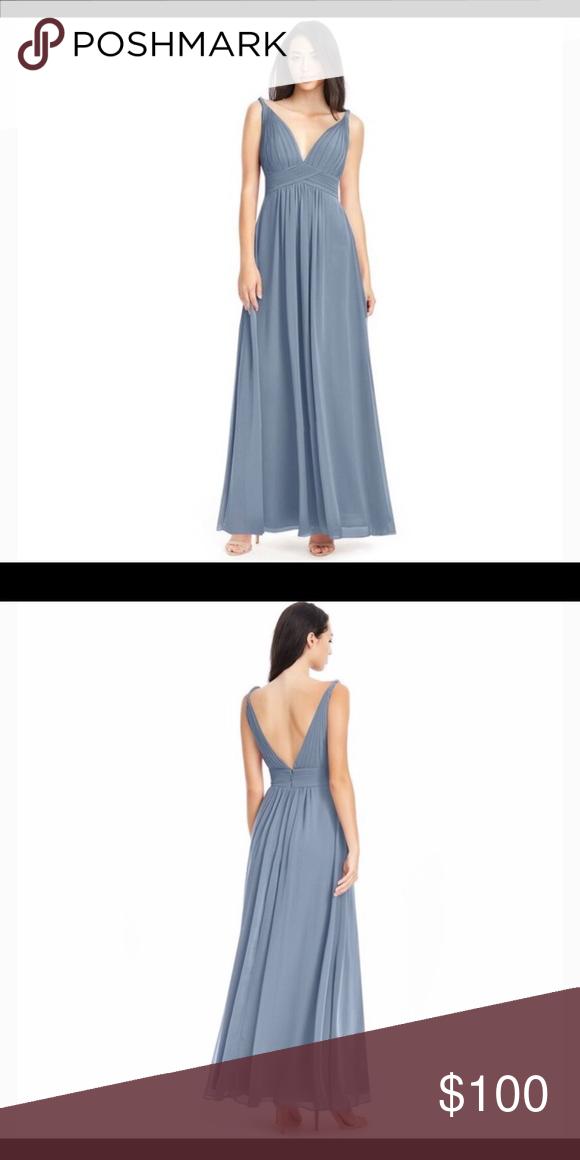 f173330cc04 Azazie Maren dusty blue bridesmaid dress size 12 Azazie Maren A-line floor  length bridesmaid