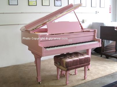 White baby grand piano ❤ we can enjoy ...I might take up lessons ...