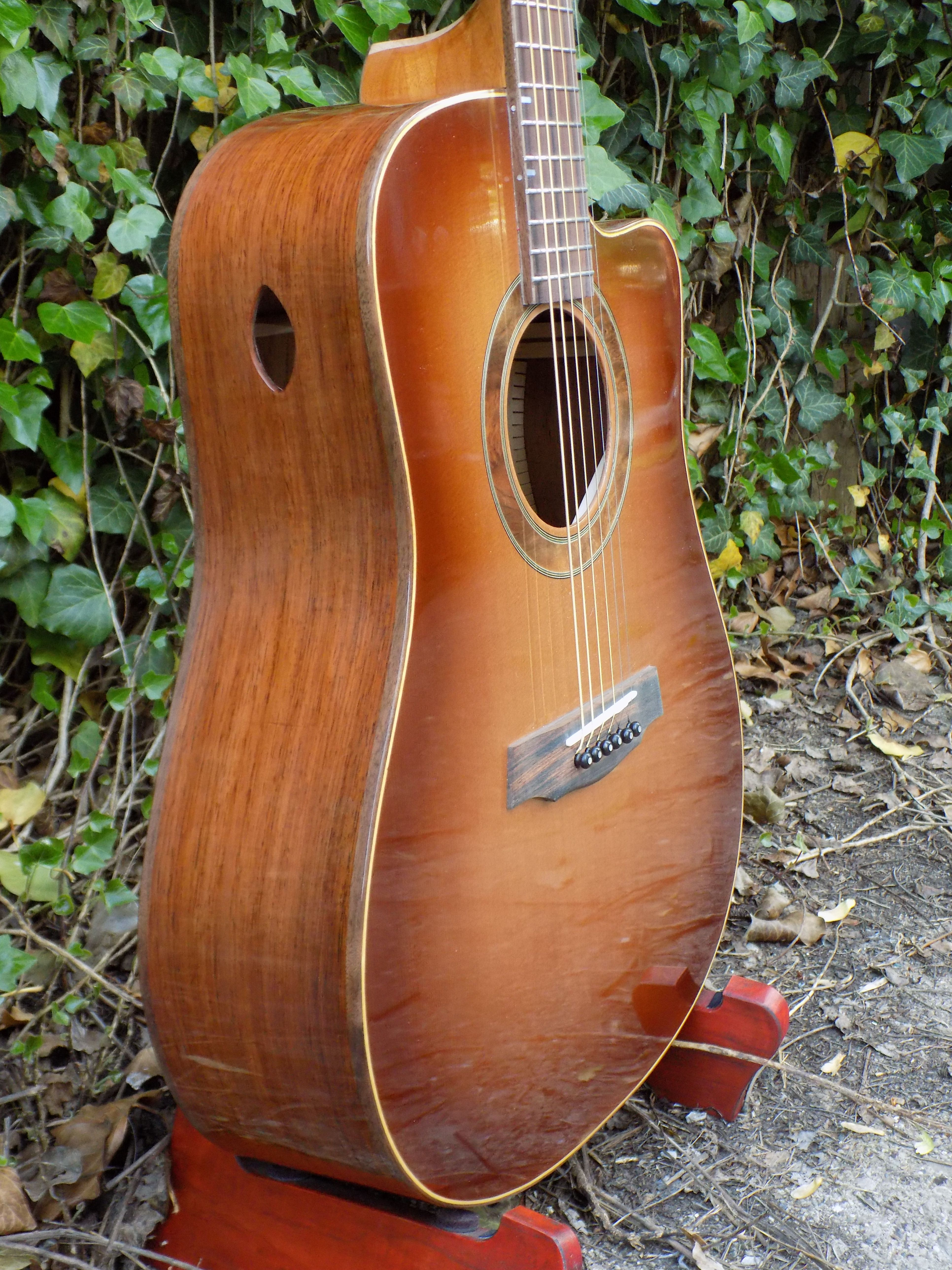 Wilhelm Guitars Dreadnought Cutaway Guitar Acoustic Guitar Handmade Guitar