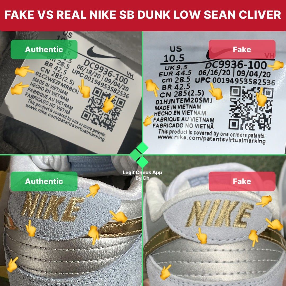 Nike sb dunk sean cliver legit check guide in 2021 nike