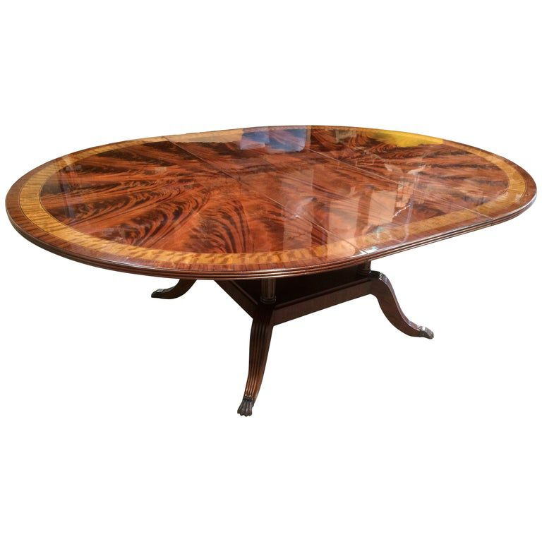 Round Mahogany Regency Style Dining Table By Leighton Hall In 2020