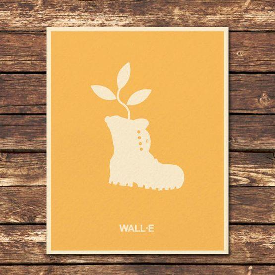 Minimalist poster of Wall-e   Design&Illustration   Pinterest ...