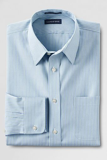 230b8aee1373 Lands' End No Iron Straight Collar Pinpoint Dress Shirt. Looks  professionally pressed all day