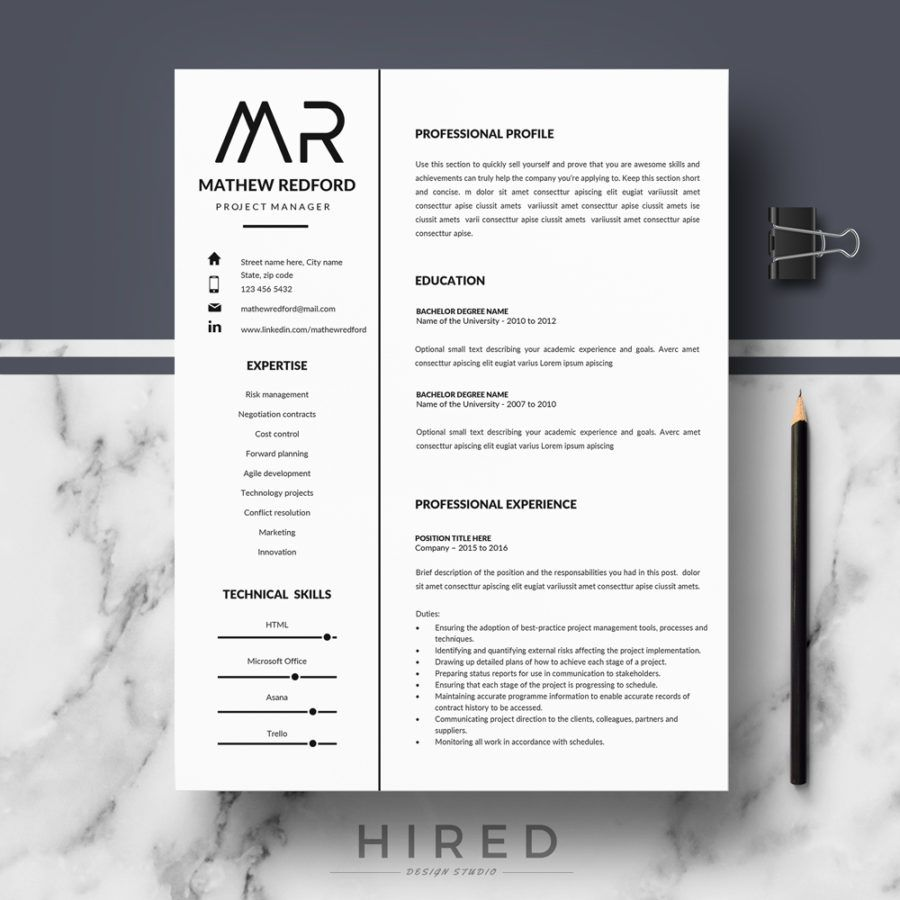 Resume Template For Microsoft Word 2010 Professional Modern And Minimalist Resume Template For Ms Word