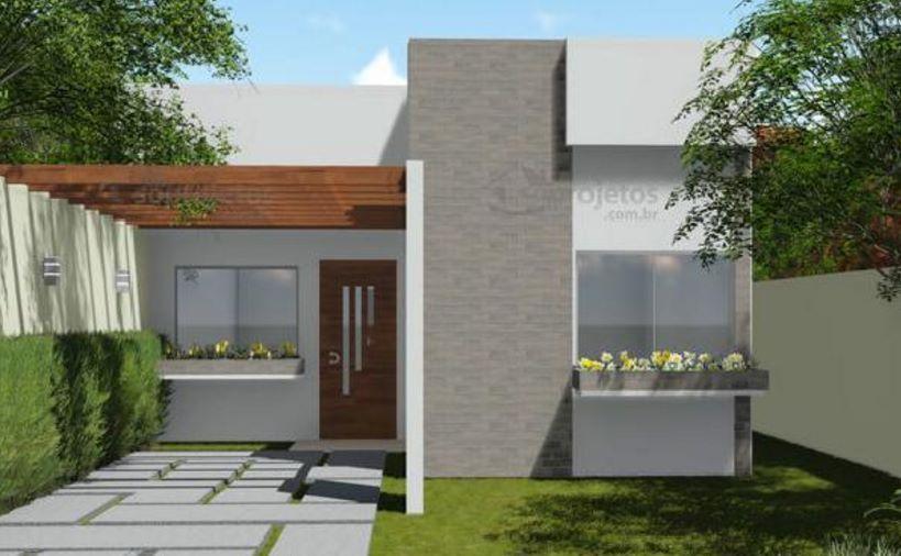 Fachadas minimalistas entre medianeras planos de casas for Planos y disenos de casas pequenas modernas