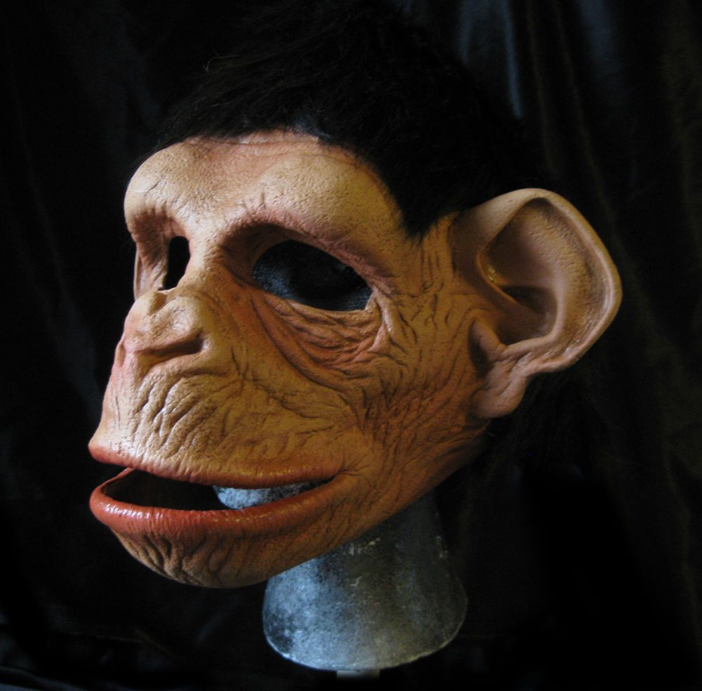 Funny Monkey Ape Mask Moving Mouth Adult Chimp Chimpanzee ...