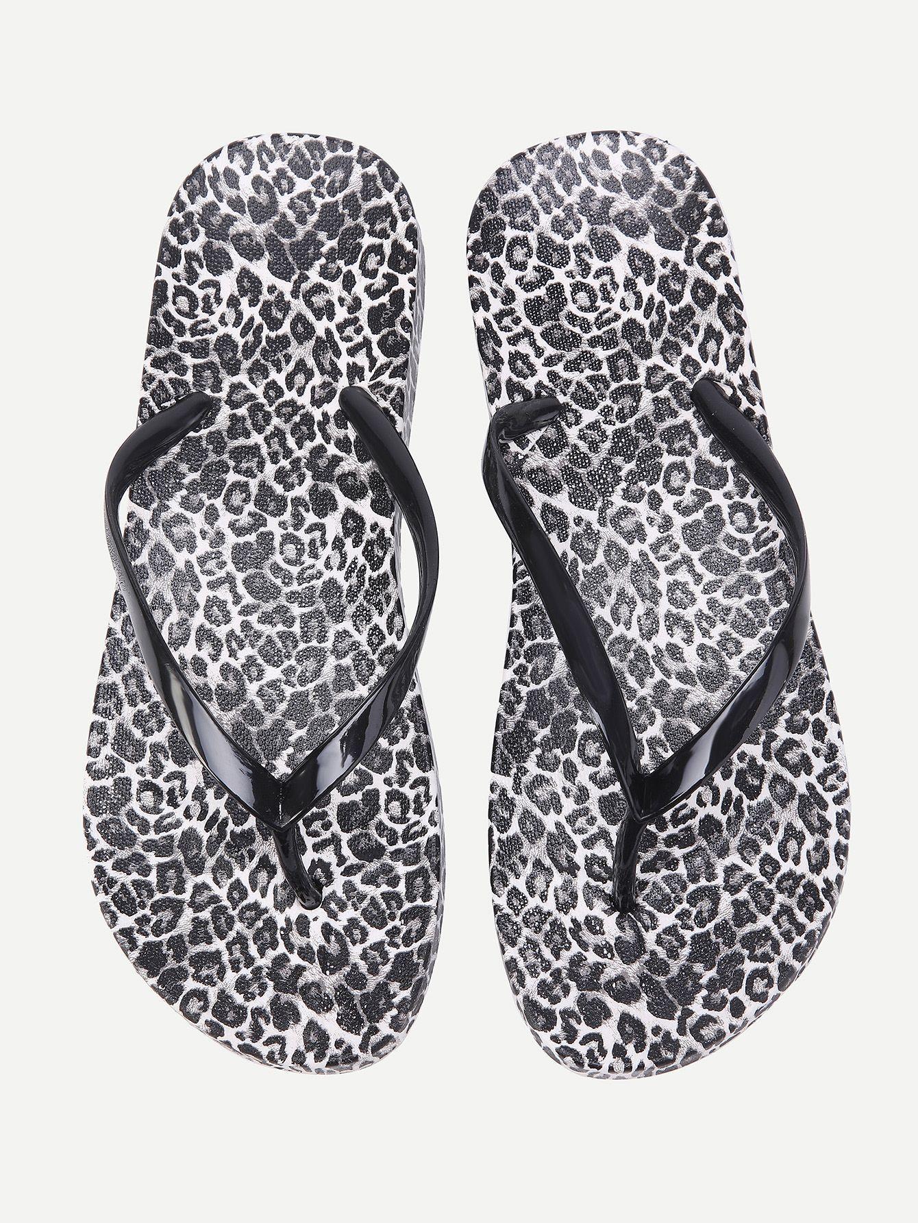 f45a056a0 Shop Leopard Pattern Flip Flops online. SheIn offers Leopard Pattern Flip  Flops   more to