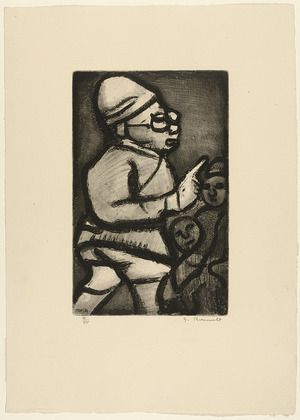 Georges Rouault. Man in Profile from Réincarnations du Père Ubu. (1932)