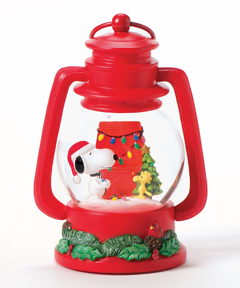This Snoopy Lantern Glitter Dome By Is Perfect