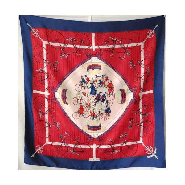4fa284bd0b9c hermès foulard carré les bécanes,Bécanes, Hugo Grygkar , authentique silk  scarf
