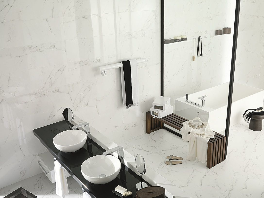 porcelanosa 39 marmol carrara blanco 39 tile ceramo ceramo 39 s stone look tiles pinterest perth. Black Bedroom Furniture Sets. Home Design Ideas