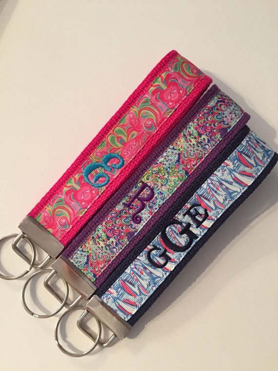 Personalized Keychain Wristlets - Embroidered with name or initials