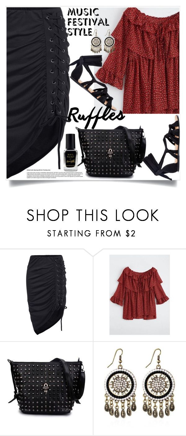"""Show Time: Best Festival Trend"" by denisabisic ❤ liked on Polyvore featuring Barry M"