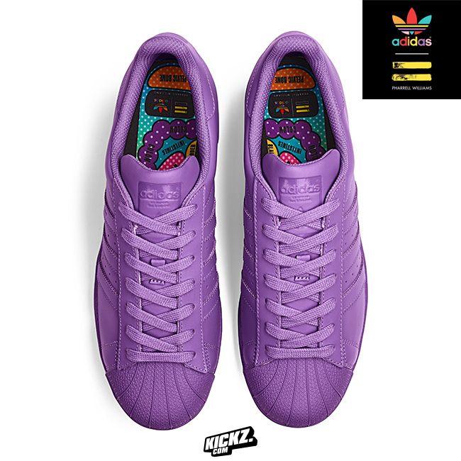 d8edf0da9e50f Adidas Superstar Supercolor by Pharrell Williams. 1 of 11 unique monochrome  colorways dropping at Kickz.com on 27th March 2015.