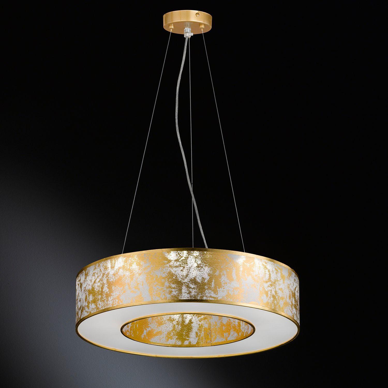 LED Pendel Decken Leuchte Ess Zimmer Küchen Hänge Chrom Lampe gold Glas Kristall