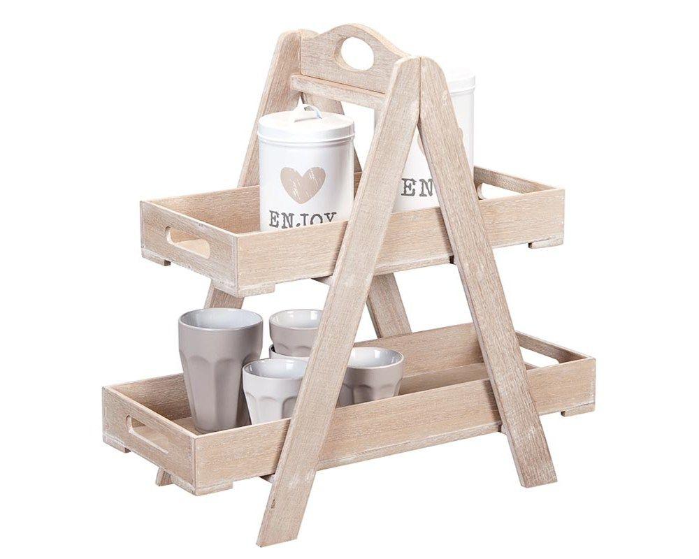 Ikea küchenstange ~ Dienblad kirk: landelijk stoere etagère van hout #woonaccessoires