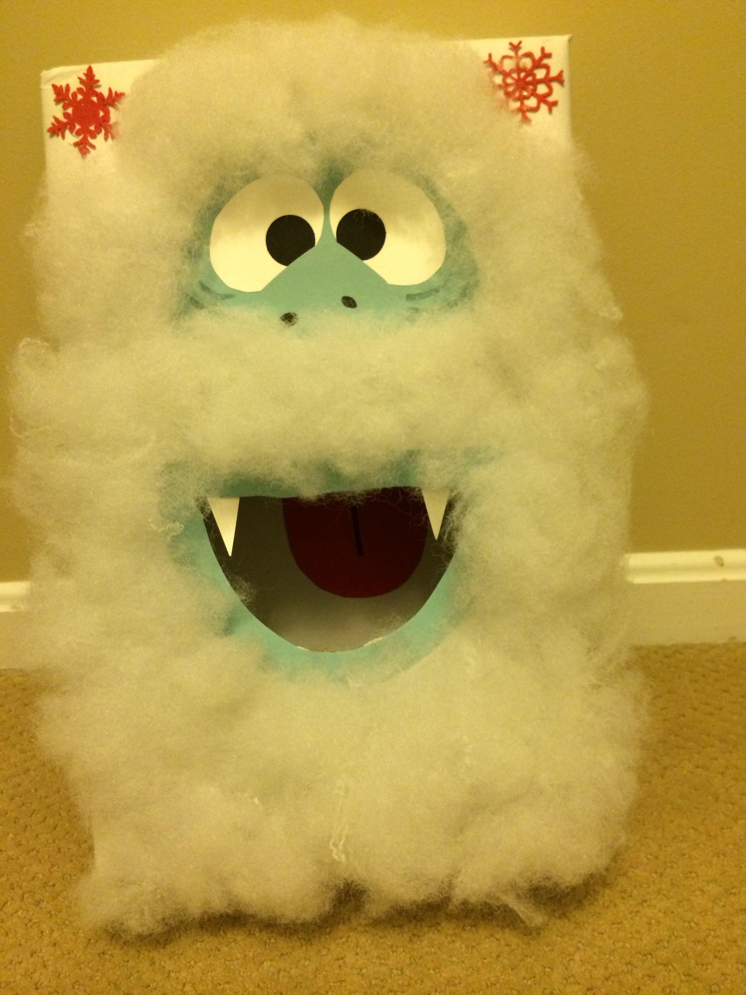 Abominable snowman bean bag toss box Abominable snowman