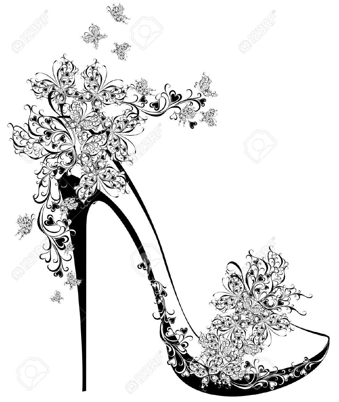 High Heel Shoe Stock Illustrations Cliparts And Royalty