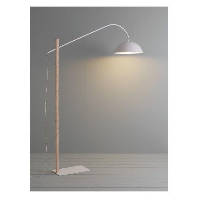 BIP Ash wood and white metal adjustable floor lamp | Buy now at ...