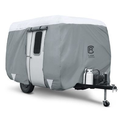 Classic Accessories OverDrive PolyPro3 Molded Fiberglass Travel Trailer RV Cover Size: 10' - 12'