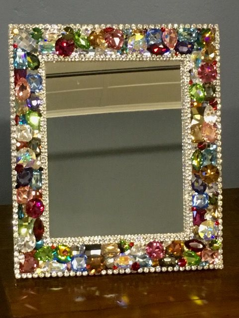 Small Swarovski Frame Colored Each Piece Is Handmade And One