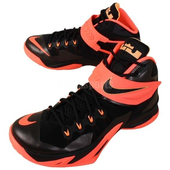 best service 9fbe2 1a95f nike zoom solider 8 black bright mango 01 570x570 Nike Zoom LeBron Soldier  8 Black Bright Mango