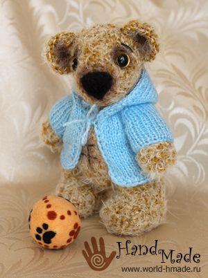 Мишка крючком схема   Вязаные игрушки - куклы и зверушки - схемы ...