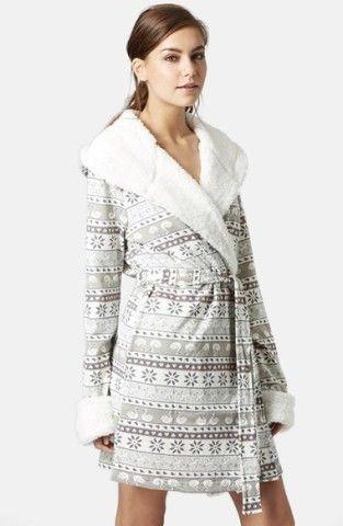 Topshop Fair Isle Fleece Robe | No | Christmas gifts | Pinterest ...