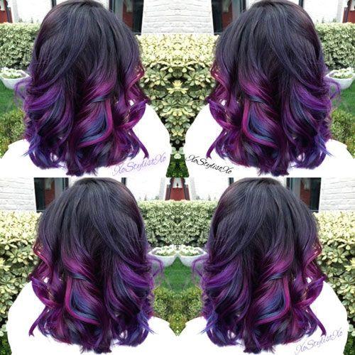 Oil Slick Jewel Tone Hair Color