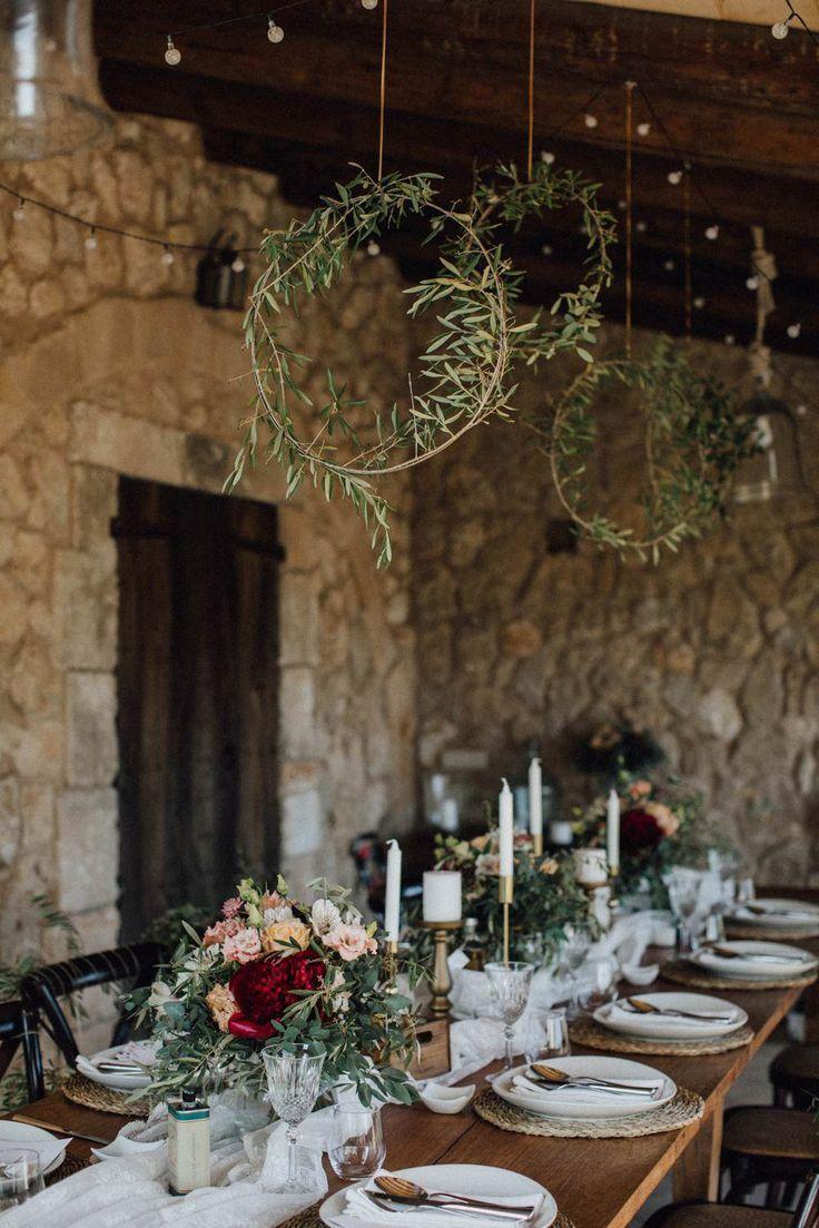 Eine schöne Deko Idee für die Tischdeko zur Hochzeit. Perfekt für Boho Hochze… – Bild+
