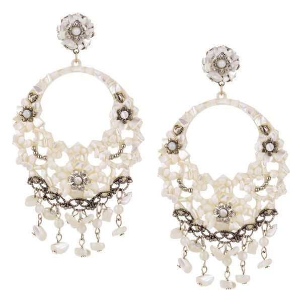 JJ Caprices - Mother of Pearl Pendant Earrings by DUBLOS