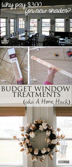 Budget Window Treatments & Kitchen Update