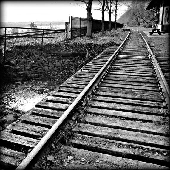 Train Tracks Rustic Wall Art 8 X 8 Print by ...