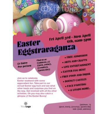 A6 Easter Egg Leaflets Printing Flyers Designs Easter Chocolate