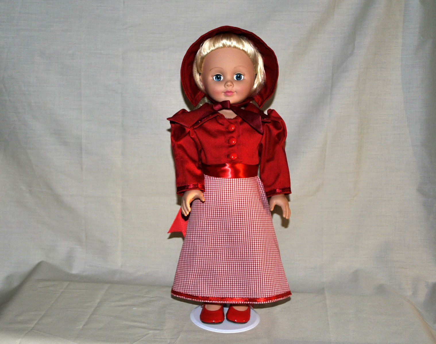 Victorian Regency Historical Red 18 inch Doll Dress and Jacket - Red Shoes, Fits American Girl, Madame Alexander #historicaldollclothes