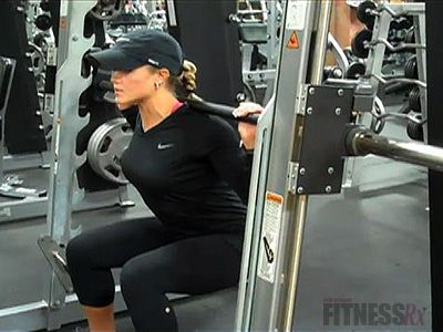 nicole wilkins shows how to use the smith machine  smith