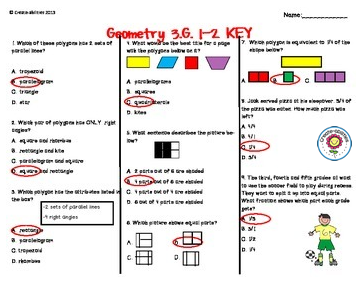 picture about 3rd Grade Assessment Test Printable identified as Pin upon Geometry