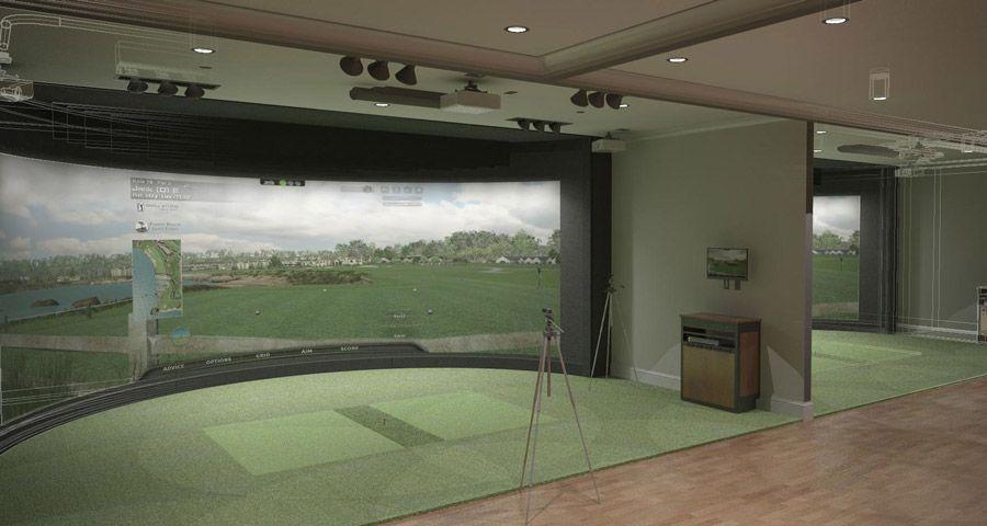 Golf simulators google search golf for Golf simulator room dimensions