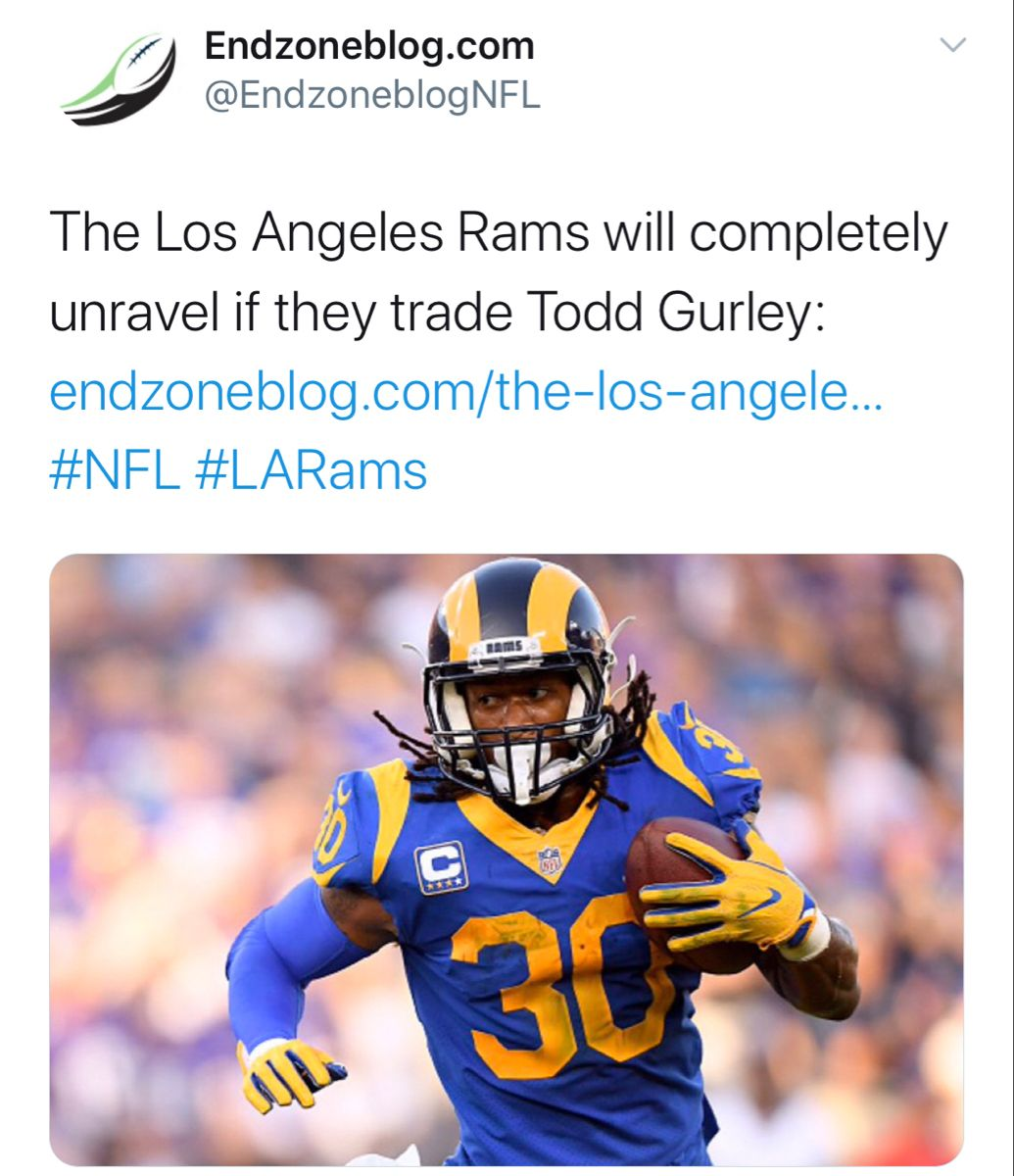 Los Angeles Can T Mess This Up In 2020 Knee Injury Todd Gurley Los Angeles Rams
