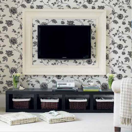4 opciones para poner el televisor en tu pieza